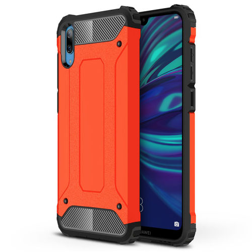 Military Defender Tough Shockproof Case for Huawei Y7 Pro (2019) - Red